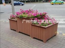 组合塑木花箱 PVC塑木花箱厂