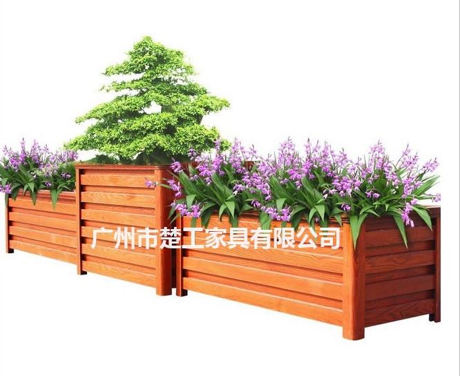 木塑花箱花盆 园林组合户外花箱