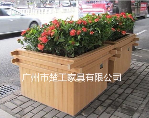 塑木花箱订制 木塑园林花槽