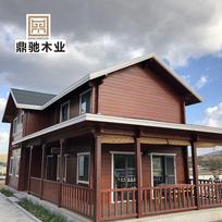小木屋户外组装移动仿古木屋材料别墅乡村农家乐木屋