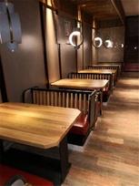 杭州餐厅家具|餐厅桌椅|实木卡座沙发定做