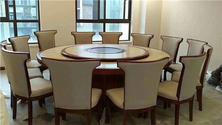 杭州电动圆桌定做 酒店实木餐桌 大理石火锅桌